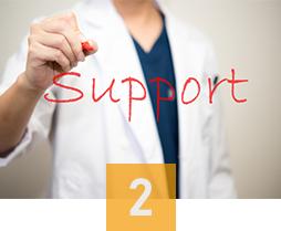 熟練した医師による万全サポート
